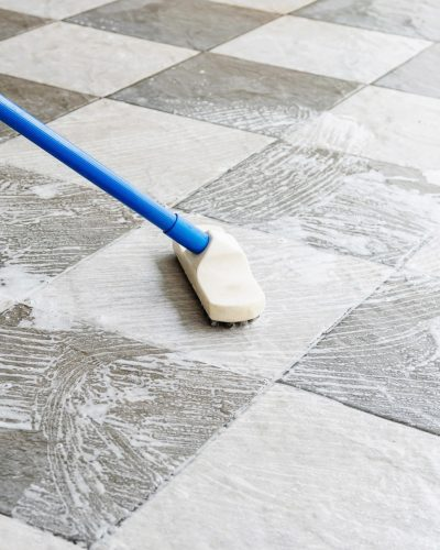carpet and tile cleaning- seeping tile floor