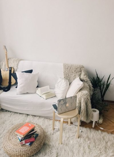 Upholstery Cleaning Sunshine Coast - modern living room with white couch and cream carpet